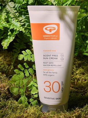 Green People scent-free sun cream SPF30