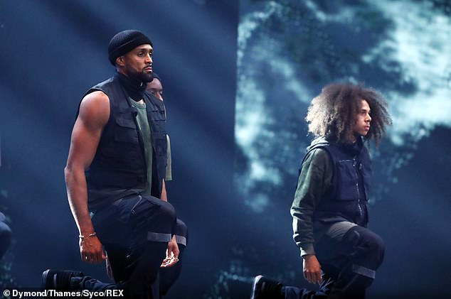 Routine:The dancer, 32, was subjected to an onslaught of online abuse following the show which received over 24,000 Ofcom complaints (pictured on Britain's Got Talent in September 2020)