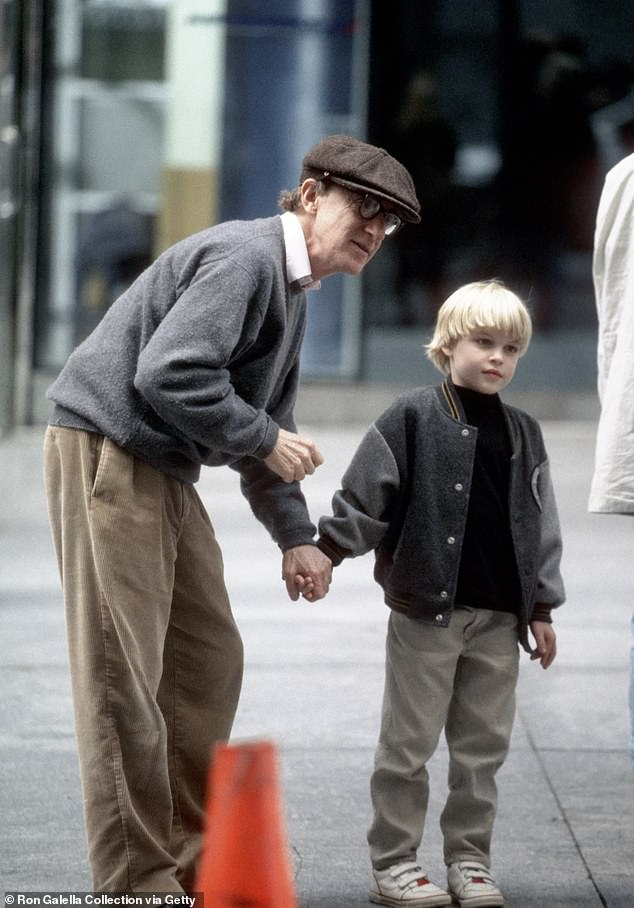 Filmmaker Woody Allen (L, pictured in 1995) told Vulture in 2018: 'In my opinion, he's my child...I think he is, but I wouldn't bet my life on it. I paid for child support for him for his whole childhood, and I don't think that's very fair if he's not mine'