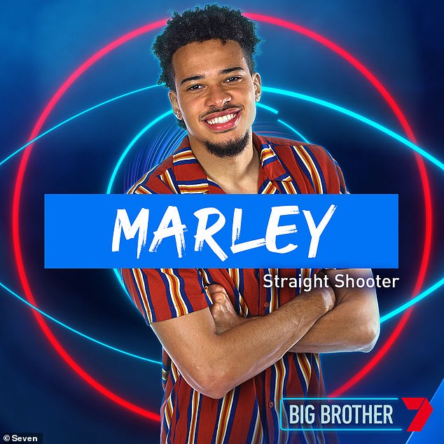 Reality star: Marley, who is currently starring on the Channel Seven reality show,has not seen his partner of six years for 12 months due to border closures amid the covid pandemic