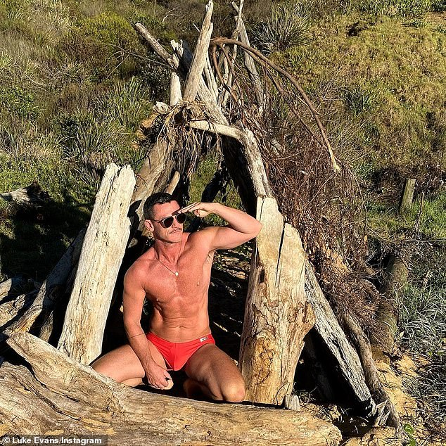 Scary: Welsh actor Luke Evans has shared his frightening experience with a huntsman spider while shooting a TV series Australia