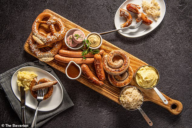 Sausage fans can test how many varieties they can eat in one sitting, with the $49 Signature Sausage Platter