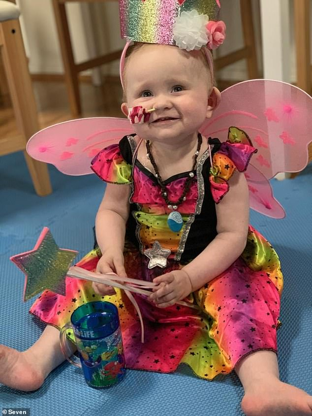 'It makes me so sad this story': On Sunrise on Tuesday, Edwina Bartholomew broke down in tears over the heartbreaking story of 'miracle' baby Grace Bridges, two, who is battling a rare cancer