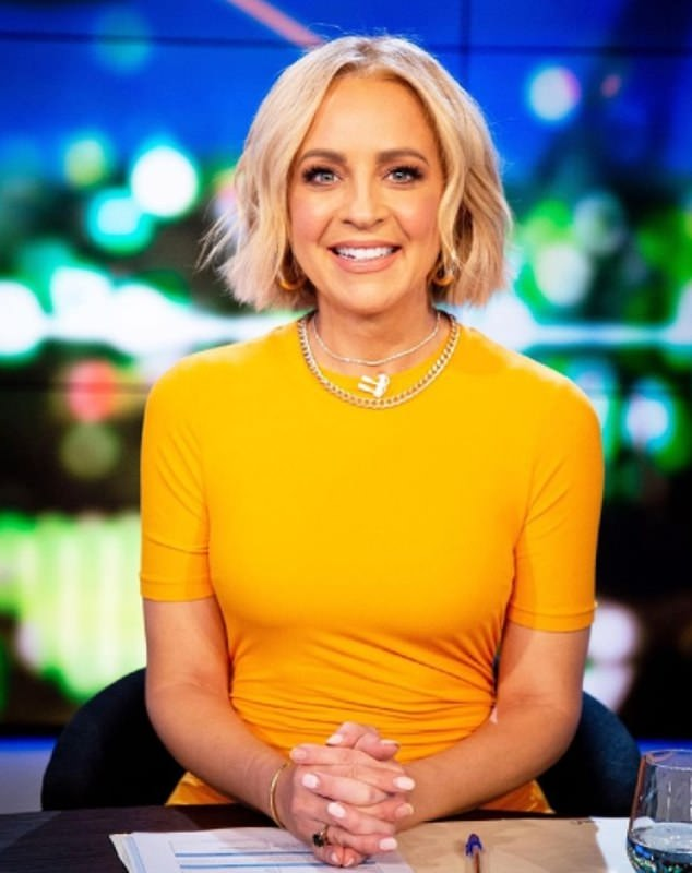 Not quite nailing it:Carrie Bickmore has been attacked for not having a perfect manicure on The Project, despite Melbourne being in the midst of its fourth hard lockdown