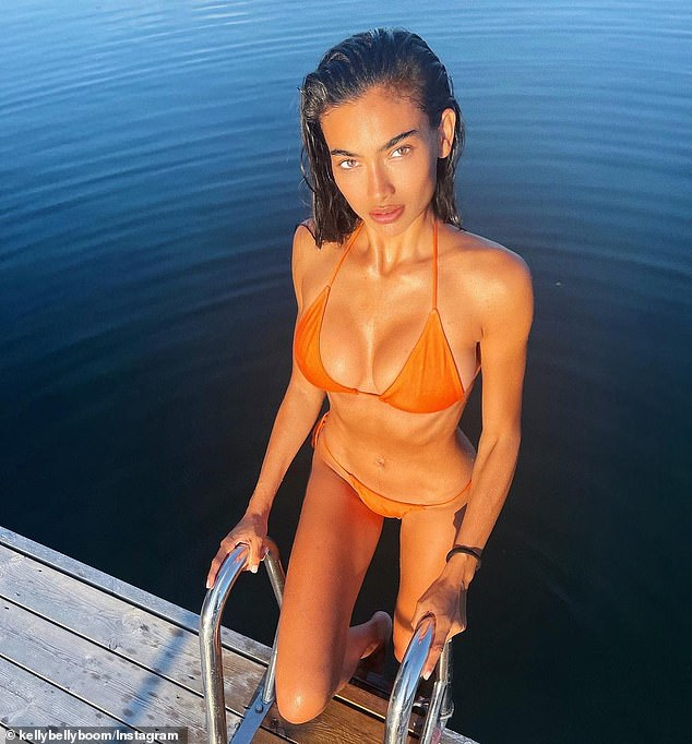 Fancy a sunset swim? Swedish-Australian model Kelly Gale shared a picture of her stunning physique on Monday, while enjoying some downtime in Sweden