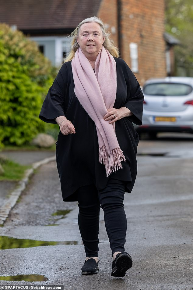 Off she goes: The actress, 61, is reportedly feuding with her co-star Linda Robson, 63, however the Loose Women panellist has slammed the rumours saying the are a 'load of old codswallop'