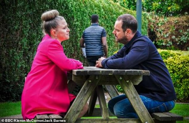 Mick insists he will continue to love Linda (pictured) although she's carrying Max's baby in EastEnders