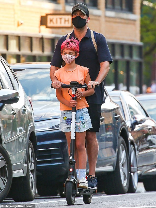 Daughter and dad day:David Schwimmer has daughter Cleo Buckman Schwimmer. The actor is rarely seen with his 10-year-old old child so it was surprising when they were spotted riding the same electric scooter together in New York City on Monday
