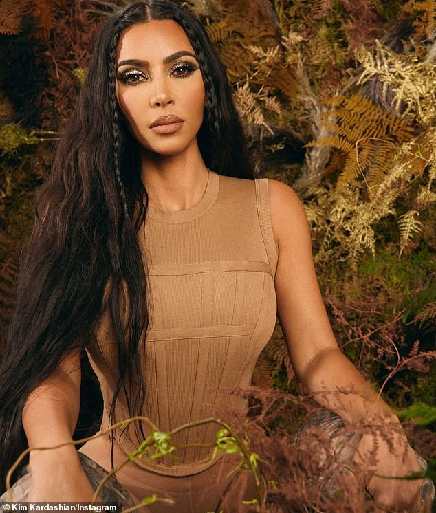 New products:Kim announced on Monday she is debuting a new cosmetic line for KKW Beauty that has a camo theme