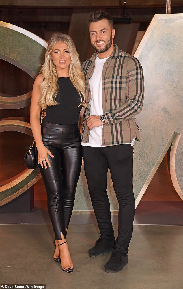 Couple:Also in attendance were Love Island winners Paige Turley and Finn Tapp