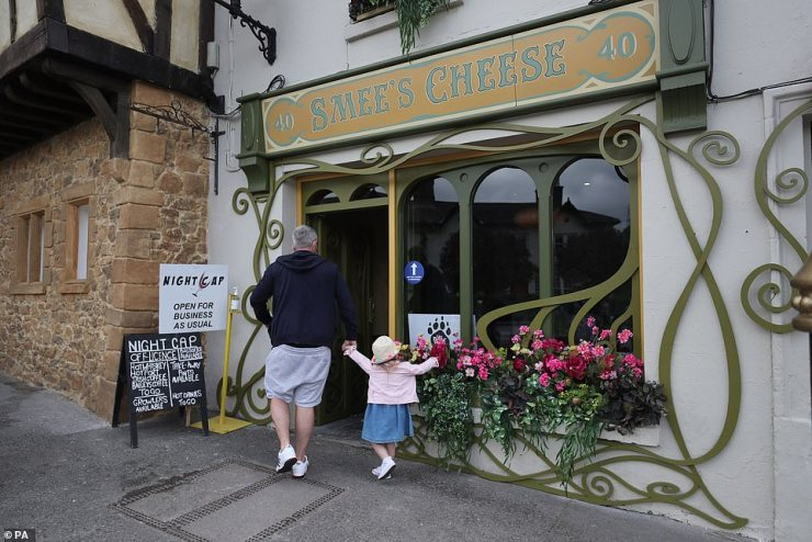 Say Cheese! Another shop was named Smee's Cheese in preparation for the film