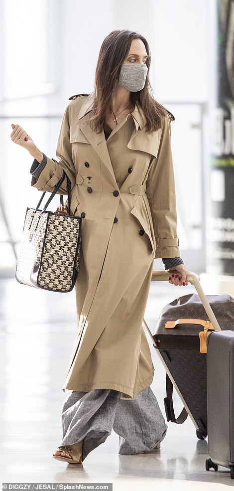 Chic: The actress had just been celebrating her 46th birthday the night before in Los Angeles