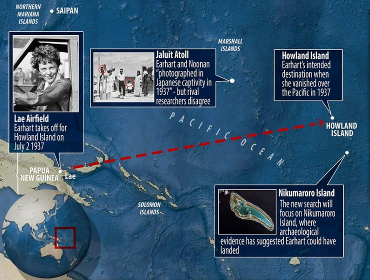The mystery of her disappearance has produced a number of theories – from crashing to landing becoming castaways on an island outside of Howland to being taken as hostages by the Japanese