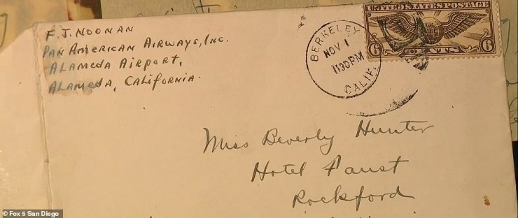 Person's mother, Beverly, told her father and Noonan had been corresponding through since she was just 15 years old and some of the letters were also addressed to her (pictured)
