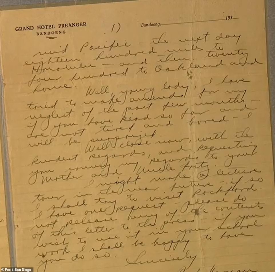 Itcontains specific details of dates, locations and weather challenges Earhart and Noonan faced along the fateful flight path