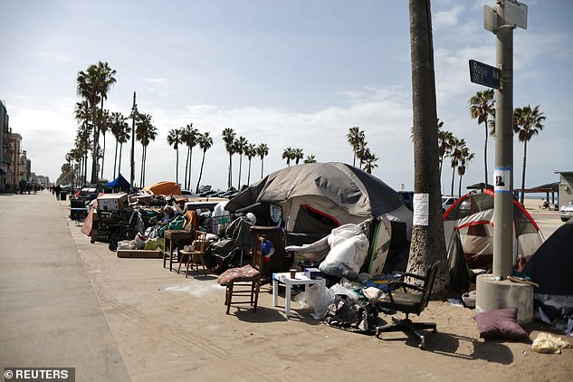 According to figures from the Los Angeles Police Department provided to the Venice Neighbourhood Council, the violent robberies in the neighbourhood are up 177 per cent from last year