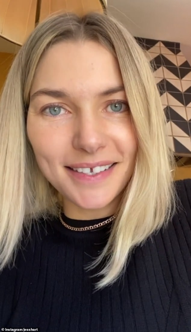 Excited: The 35-year-old shared the happy news on Instagram on Tuesday, sharing a video where she spoke about how she's a little nervous to soon have two children under the age of two years old