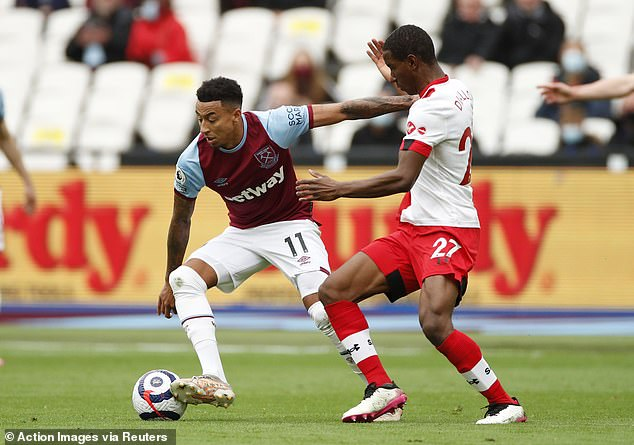 Lingard (left) played a major role in West Ham achieving a Europa League spot for next season