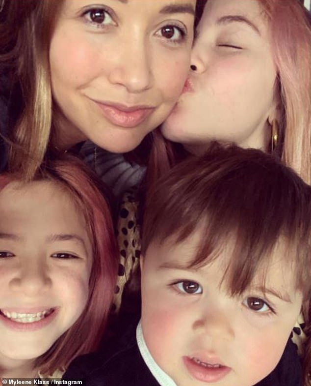 Family: Speaking about the documentary, Myleene, who has daughters Ava, 13, Hero, 10 and 'rainbow' son Apollo, 2 months, she said: 'It can¿t go on being the big dark secret that we have to carry around'