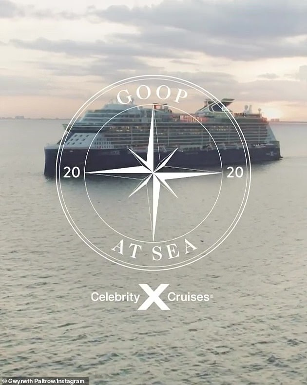 New venture: She announced back in April that she's teamed up with Celebrity Cruises to be a Well-being advisor and is developing a program for their new ship Celebrity Beyond
