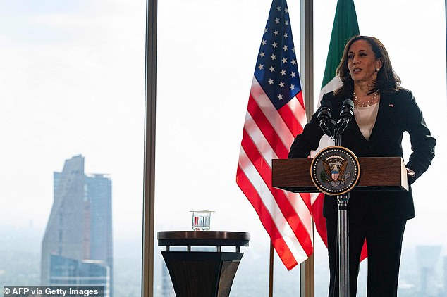 Vice President wrapped up her two-day trip to Guatemala and Mexico with a news conference at a Mexico City hotel. Questions about when she would visit the southern border dogged her during the trip but she responded by saying it was 'short-sighted' to focus on the 'reaction' and not the 'cause' of a problem