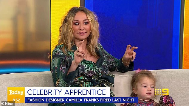 Reflecting: Camilla Franks said on the Today show on Wednesday that she 'felt like a failure' after being booted off The Celebrity Apprentice on Tuesday's episode