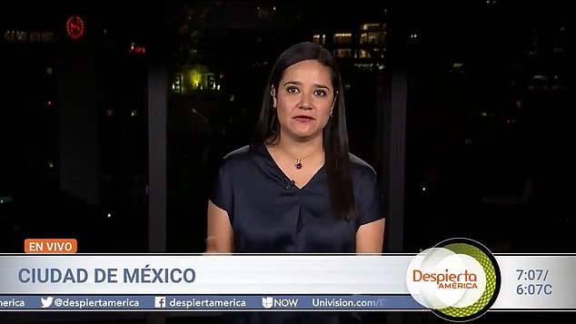 Jesica Zermeño, the real correspondent for Univision in Mexico City, was in the room at the time that 'Maria Fernanda for Univision' was called on to ask a question