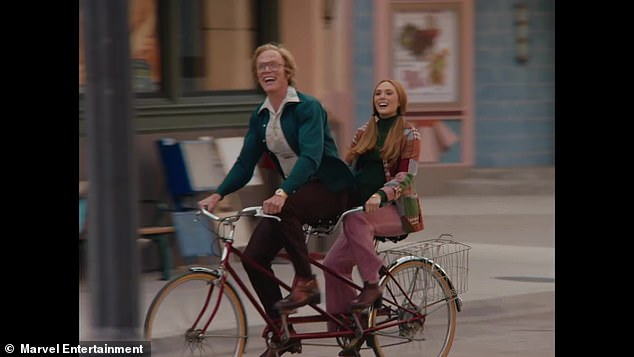 Show:Series one of WandaVision ended in March 2021 and it concluded with Wanda finally realising her truth (pictured in still with co-starPaul Bettany)