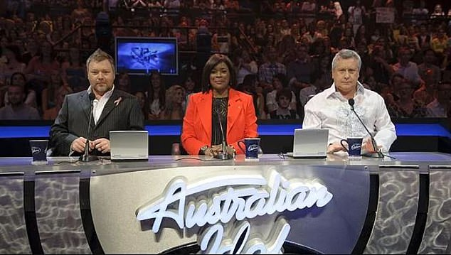 Idol judge: He was then cast as a judge on Australian Idol in 2005, but was sacked in by Channel 10 in 2009 after a controversial radio stunt