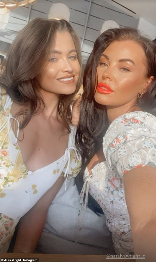 Updates:However, Jess continued to share updates from Portugal on Tuesday evening - although she did not specify if she was still in the country or posting throwback snaps (pictured withNatalya)