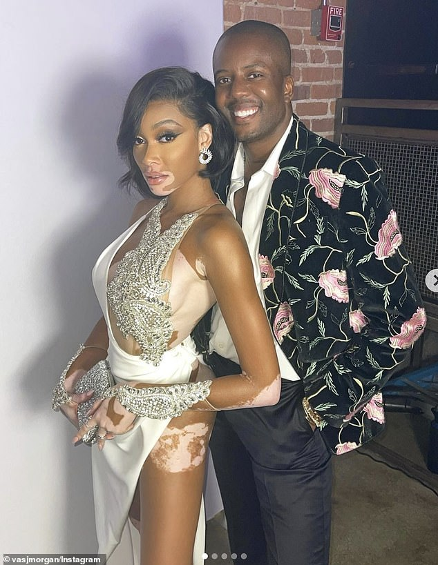 Gorgeous: TV Personality Vas J. Morgan who also attended the event shared a stunning snap on his Instagram with the super model