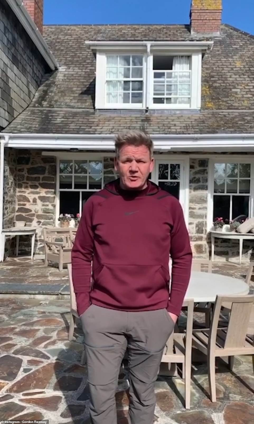 Other home:Gordon regularly shares glimpses inside his family home to social media, which he splits his time in between his other £4.4million holiday house in Cornwall (pictured)