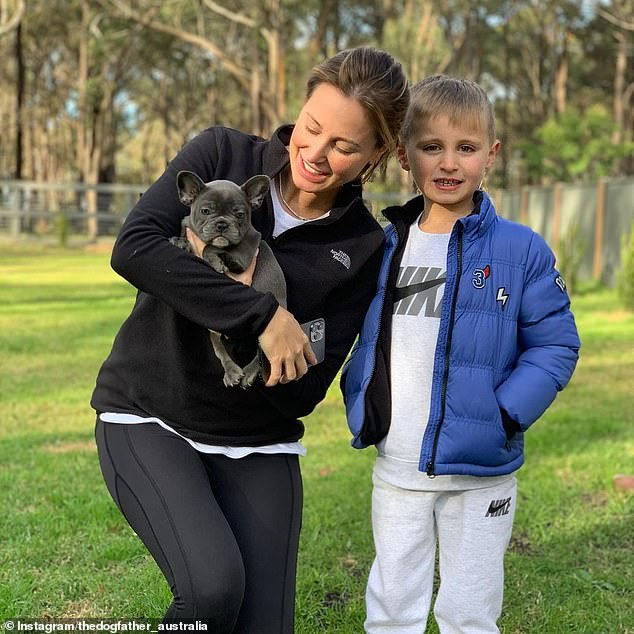 'Welcome to the family': Roxy Jacenko (pictured with son Hunter) announced a new addition to her brood on Wednesday