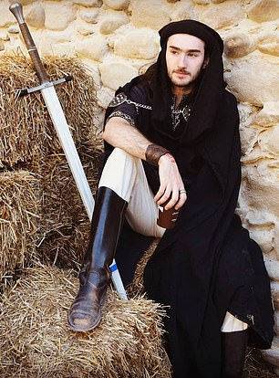 Damien Tarel is a medieval enthusiast whose social media reveals him wearing clothing of the era and participating in re-enactments