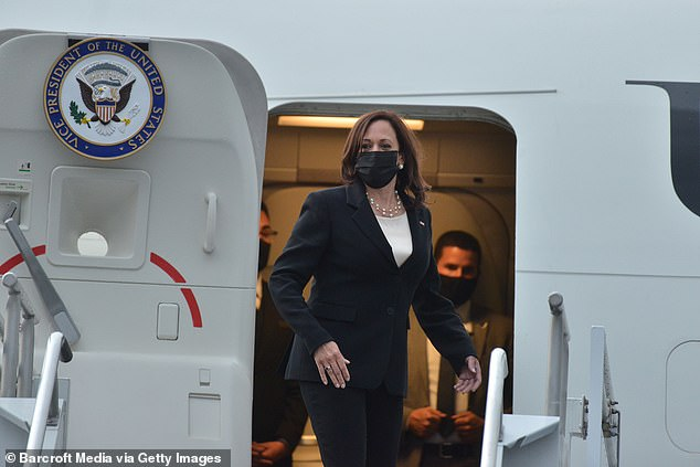 Harris visited Mexico and Guatemala in her first trip outside the country as VP