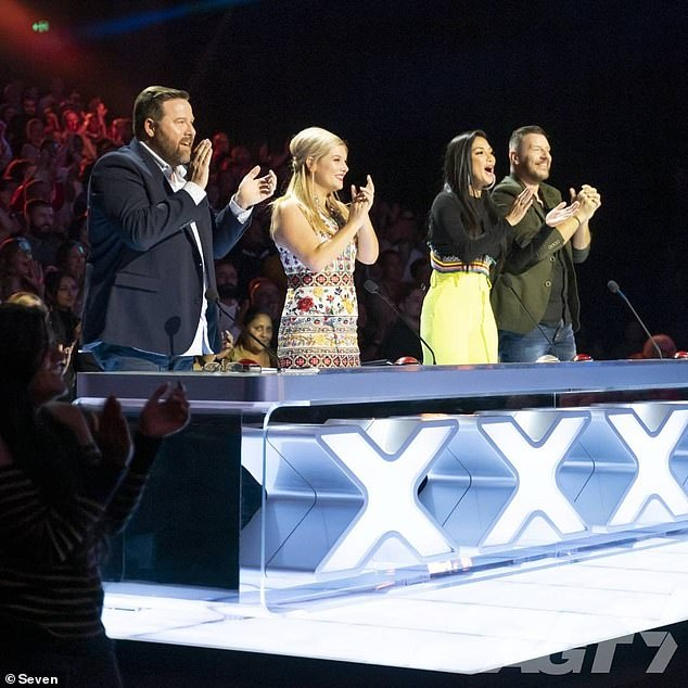 Famous faces: The post noted there would be 'new superstar judges,' but there is no word yet on who they are. Last season featured actor Shane Jacobson, musical theatre star Lucy Durack, Pussycat Dolls' Nicole Scherzinger and chef Manu Feildel (pictured left to right)