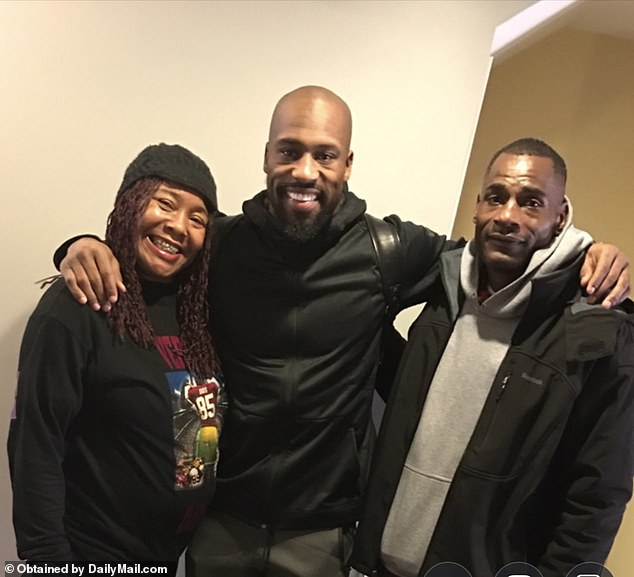 Vernon said he remained estranged from his drug-addict mother (pictured left with Vernon and his father) for decades, but managed to get clean in recent years. By 2016 he said he felt ready to rebuild his relationship with her
