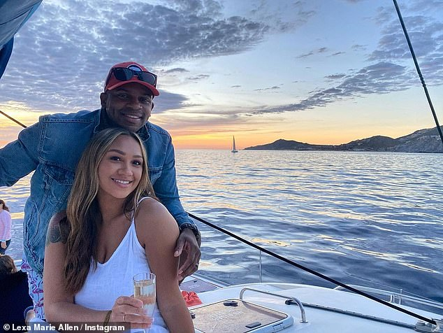 Expecting: Country singer Jimmie Allen, 34, and new wife Alexis announce they are expecting a second child together