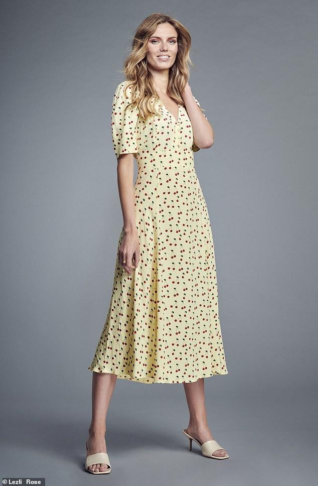 Cherry Print Midi Tee Dress, £69, M&S x Ghost at marksandspencer.com;  Mule, £46, next.co.uk