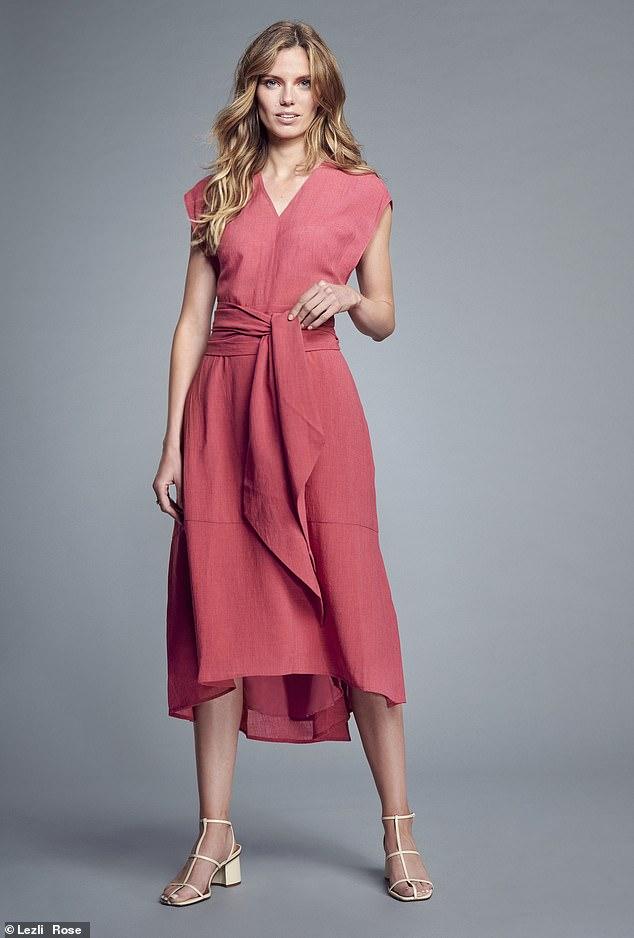 Freya dress, £320, Seffin Fenwick, exclusive at Fenwick.  Co.UK;  Heels, £49, next.co.uk