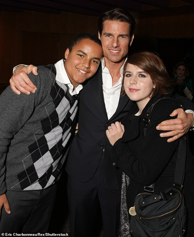 Close:Though he remains out of the spotlight, Connor still remains close to father Tom and the Church Of Scientology, according to People magazine. 'Connor lives in Clearwater, which is the church's main hub. He still deejays but he has really become a big fishing guy.' He and sister Bella are seen with dad in 2008 above