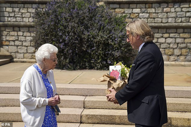 For every rose sold (pictured being presented to the monarch), Harkness Roses will donate £2.50 to the Duke of Edinburgh's Award Living Legacy Fund