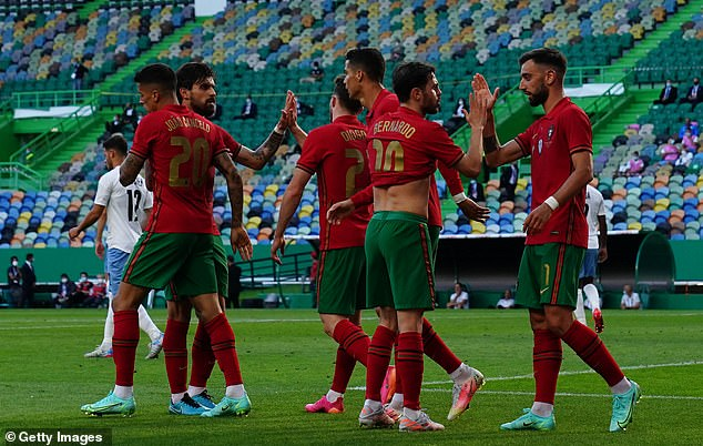 Portugal sealed a routine 4-0 victory over Israel in their final build-up game ahead of the Euros