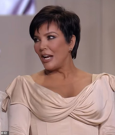 Kris donned a draped corset dress with contoured makeup, a stark difference to her look 14 years ago on the season premiere