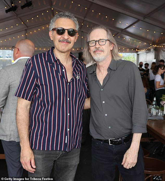 Actor pals: Brooklyn natives John Turturro and Steve Buscemi posed together for photographs
