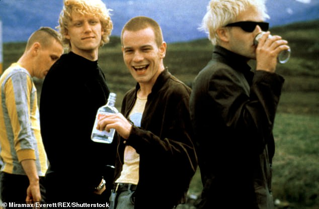 On filming Trainspotting, Evan said: 'I didn't know I would end up with addiction problems myself then.  I Calm Down in 2000' (pictured in Trainspotting, 1996)