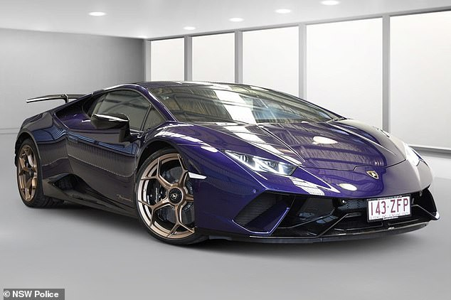 The Lamborghini was seized under Queensland's strict anti-hoon laws and all funds from its sale will go to the state