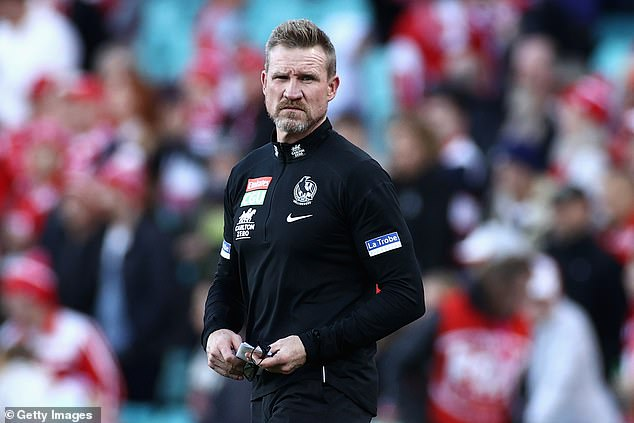 Meaning: While Alex did not mention her 48-year-old boyfriend, the quote seems particularly fitting given his recent circumstances. Pictured: NathanBuckley at the SCG on May 15