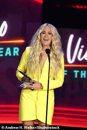 Hello sunshine: Carrie Underwood took home top honor Video of the Year