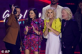 Fantastic four: Little Big Town won the first gong of the night in theDuo/Group Video of the Year category
